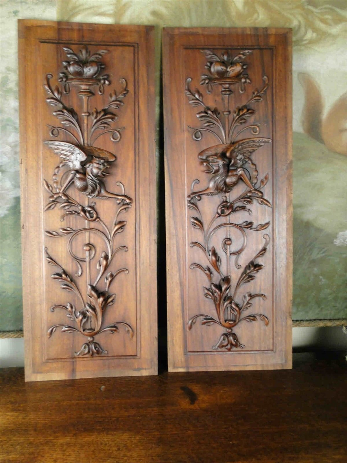 Antique 19th Century Gothic Oak Carved Panel Carved Medieval Gothic Figure Black Forest