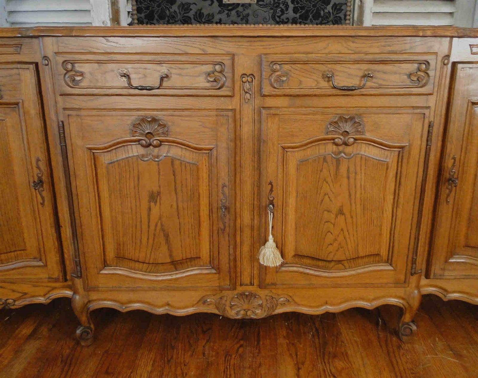 Antique French Country Louis XV Buffet Sideboard 40504