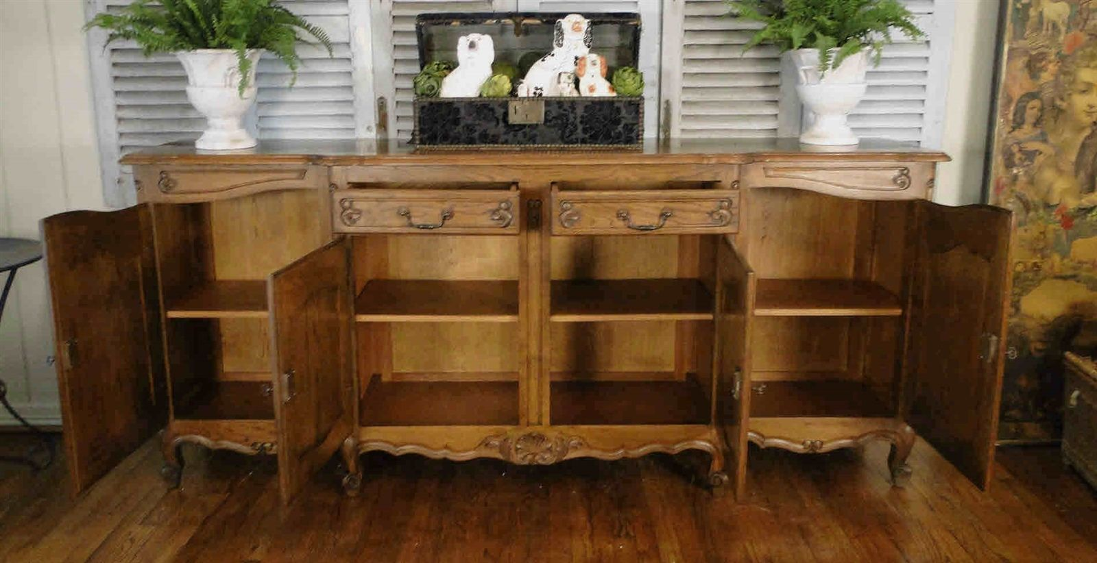 Antique French Country Louis XV Buffet Sideboard 40508