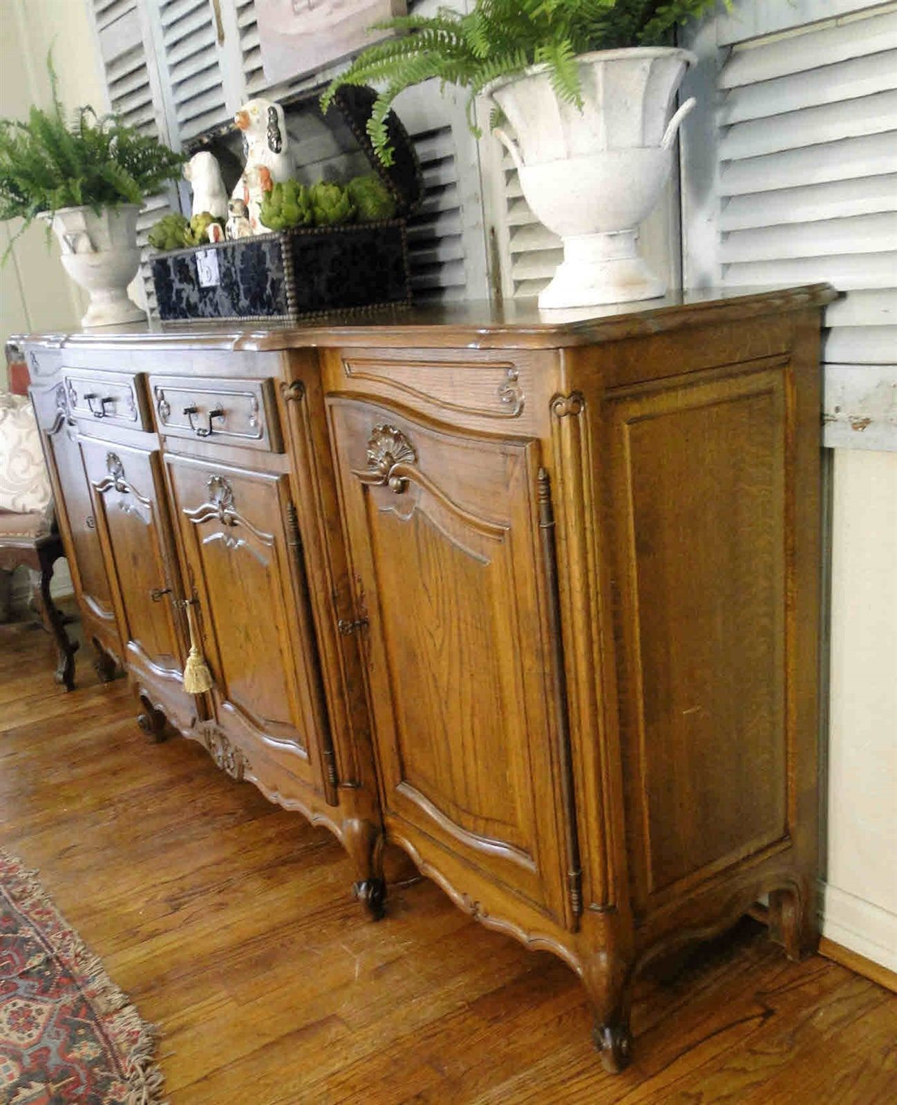 Antique French Country Louis XV Buffet Sideboard 20510