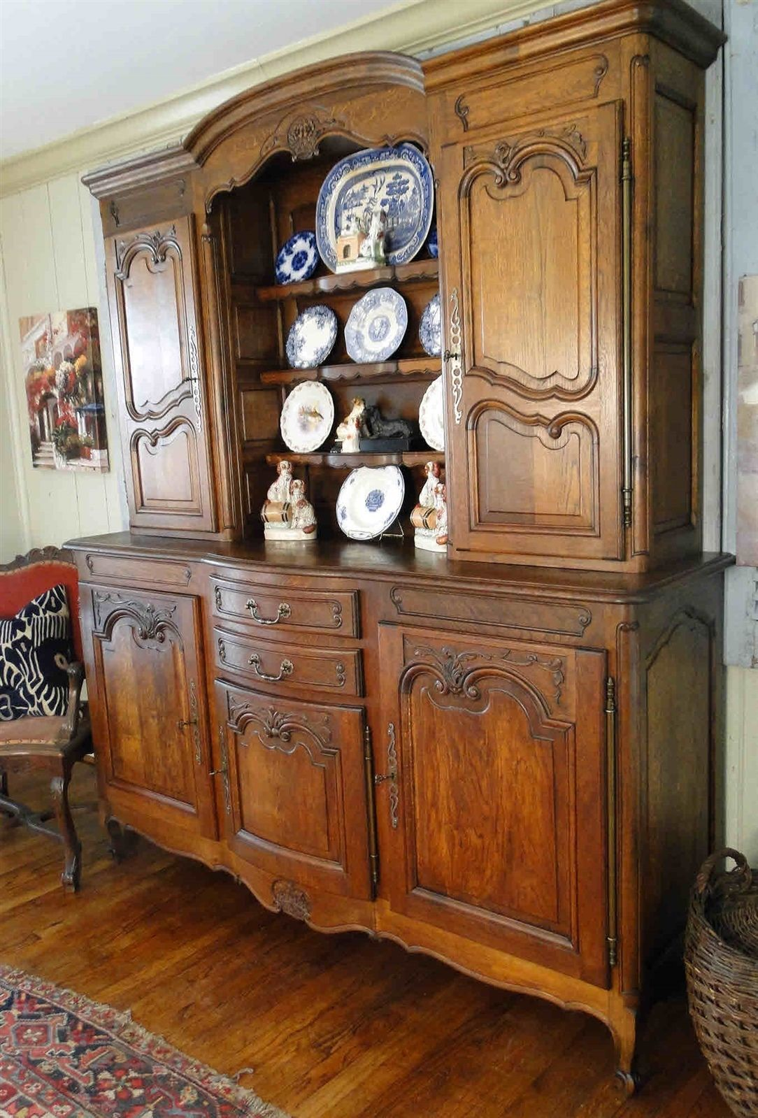 Antique French Hutch Buffet Server Sideboard 20606