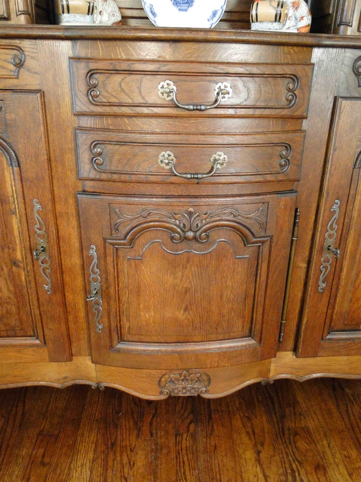 Antique French Hutch Buffet Server Sideboard 20607