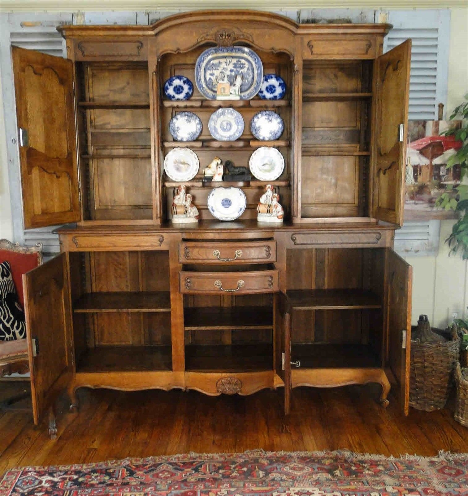 Antique French Hutch Buffet Server Sideboard 20610