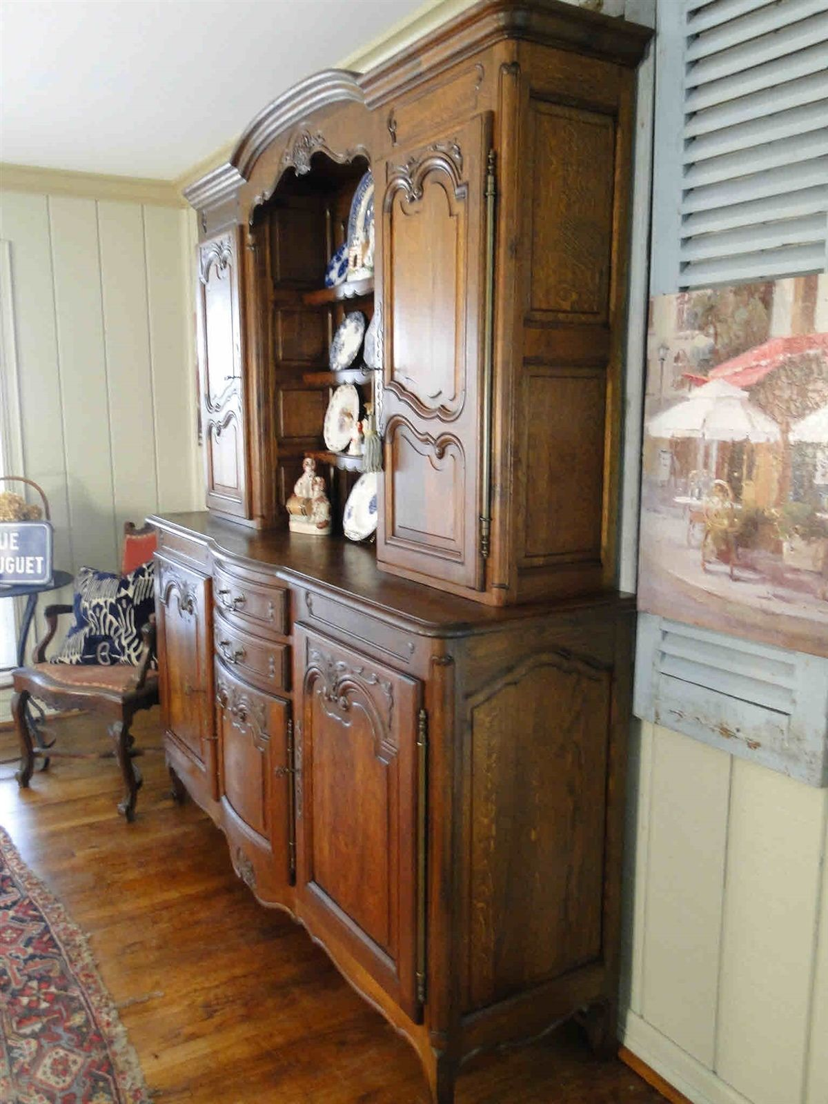 Antique French Hutch Buffet Server Sideboard 20611