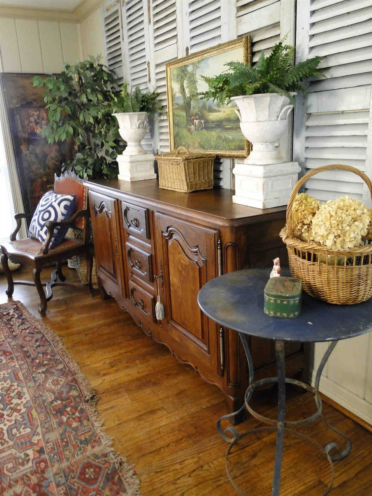 Antique Buffet Sideboard French Country Server 30107