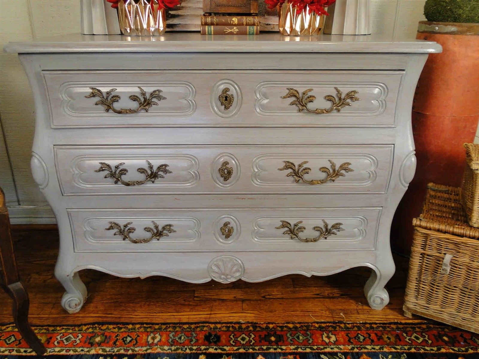 Antique French Country Buffet Sideboard Server Chest Painted 30901