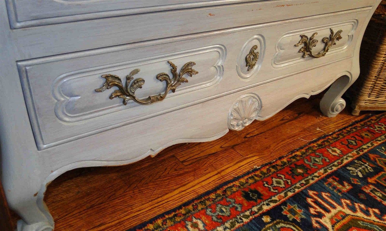 Antique French Country Buffet Sideboard Server Chest Painted 30904