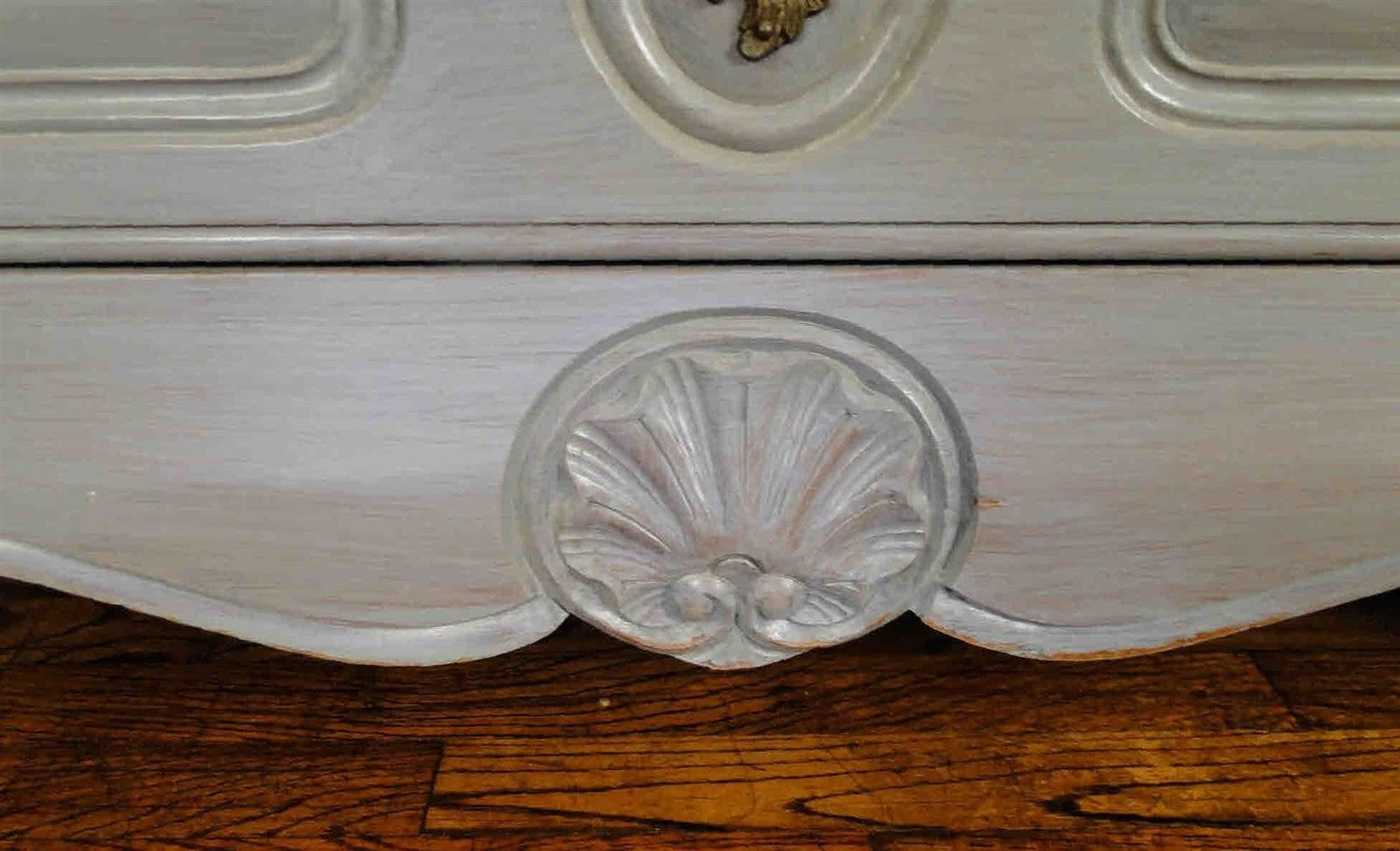 Antique French Country Buffet Sideboard Server Chest Painted 30905