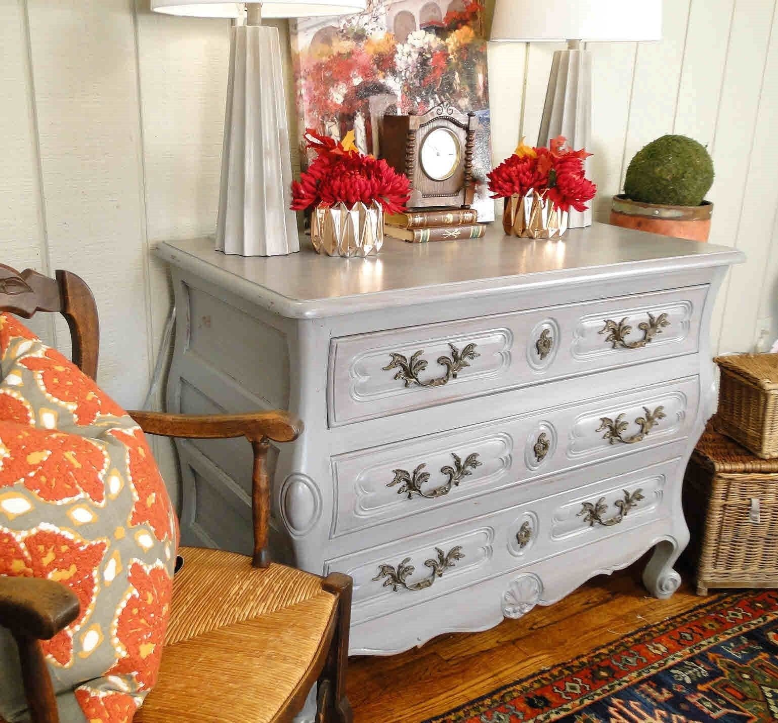 Antique French Country Buffet Sideboard Server Chest Painted 30906