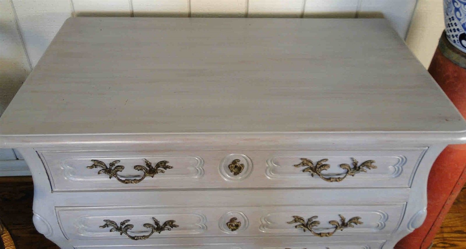 Antique French Country Buffet Sideboard Server Chest Painted 30910