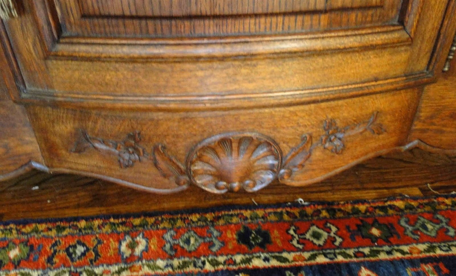 Antique French Country Buffet Carved Oak 40106