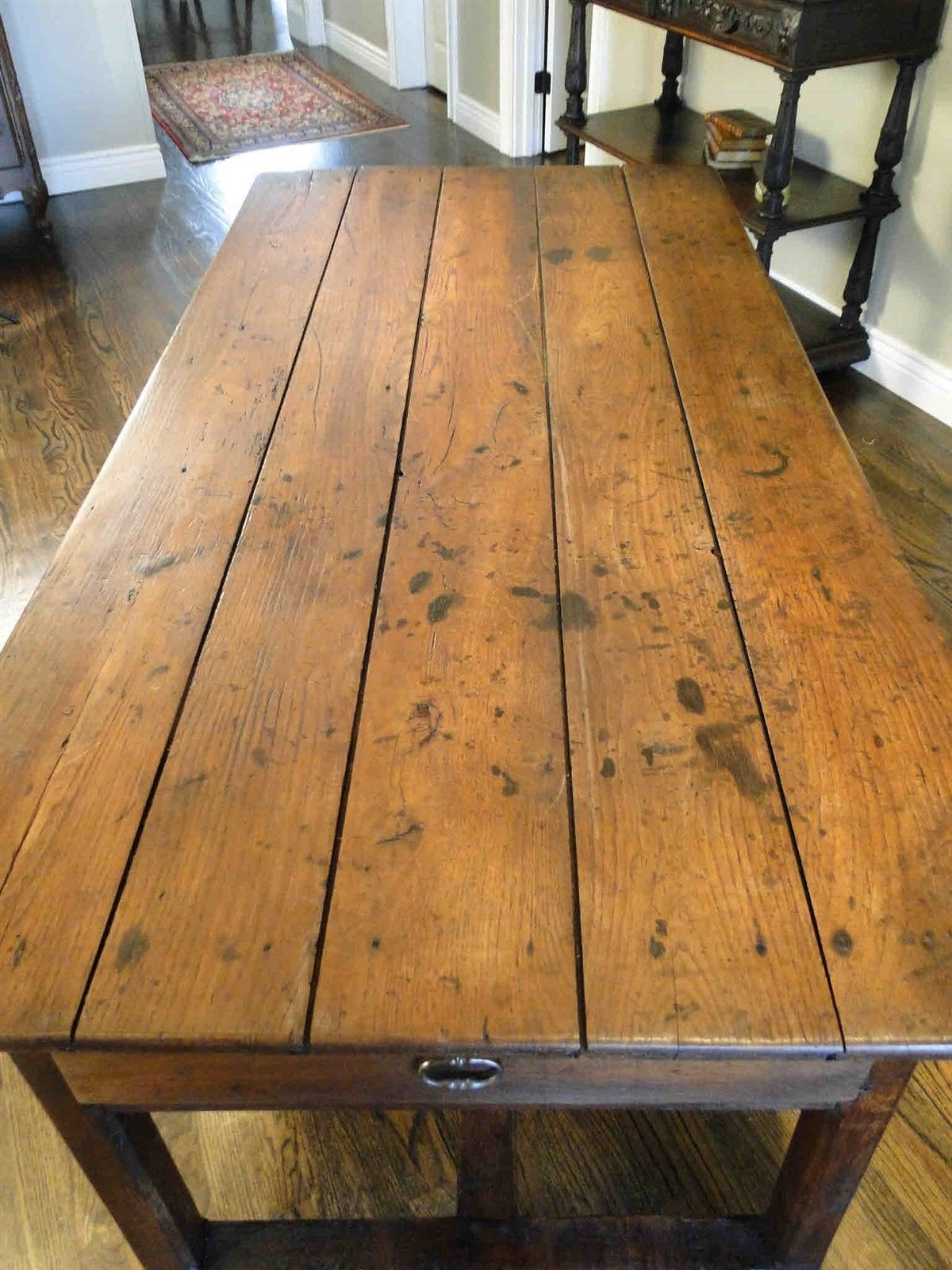 Antique French Country Farm Dining Table Authentic Provence 63805