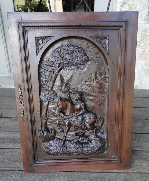 Ornately Carved Antique Architectural Wood Panel