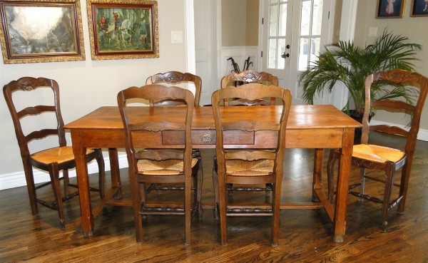 Antique French Country Farm Dining Table Farm