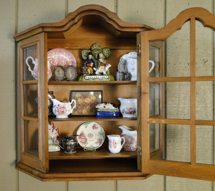 Antique Oak Display Shelf