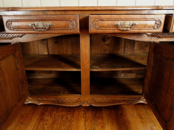Antique Dark Oak Buffet