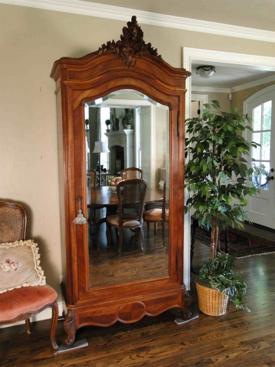 French Antique Walnut Armoire
