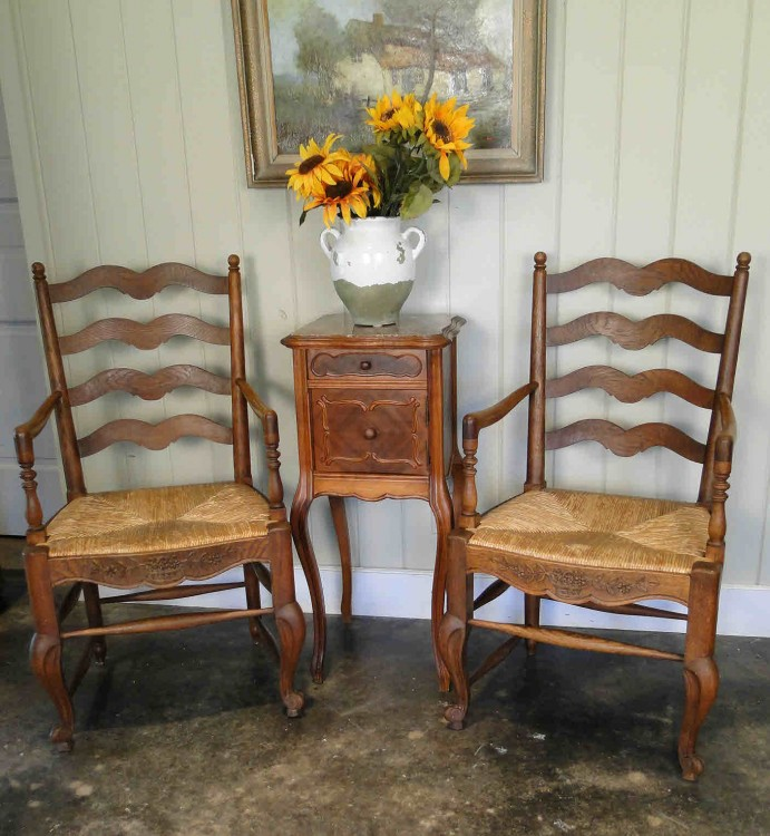 Antique Oak Arm Chairs