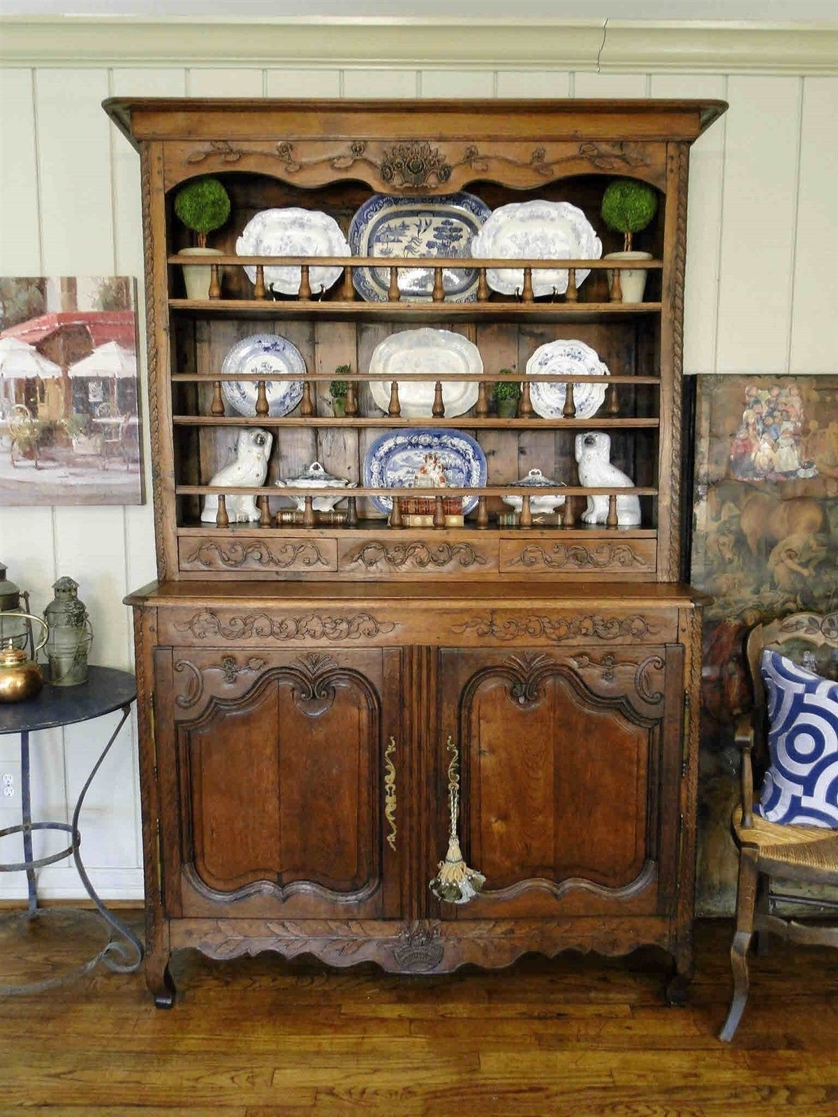 french country kitchen hutch antique country hutch buffet provence carved 3616