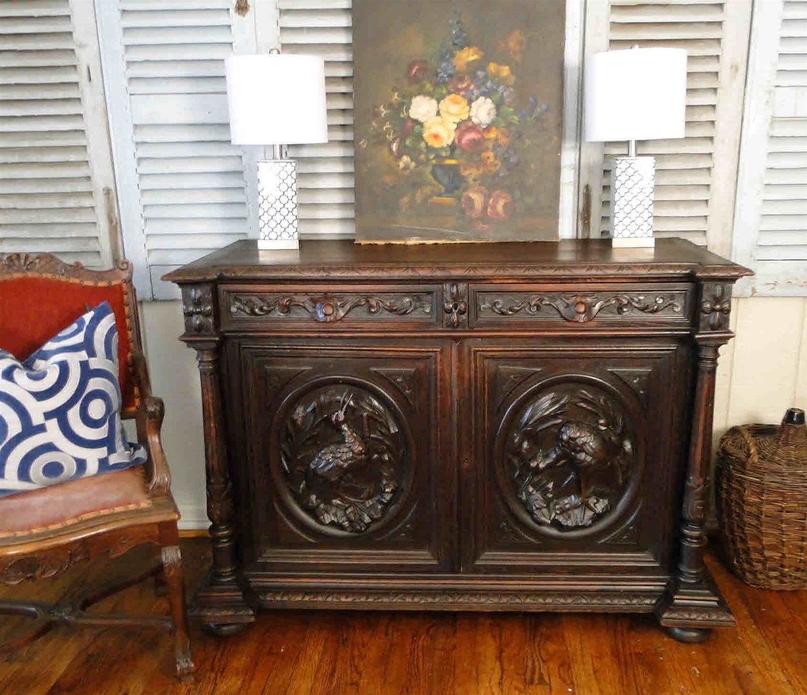 Elegant 1800's French Antique Country Buffet and Sideboard Server from the South of France