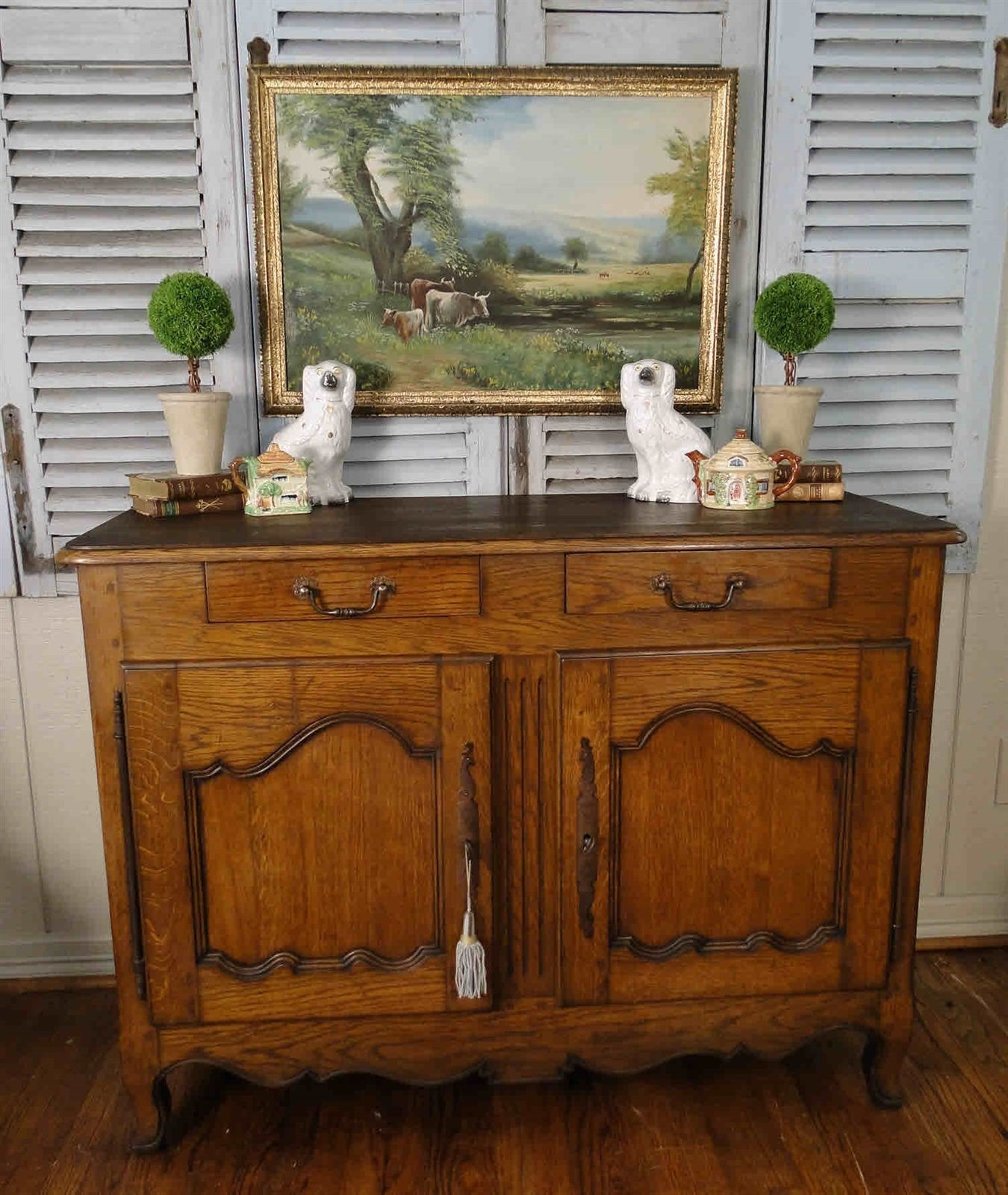 French Antique Country Buffet and Sideboard Server with Provence Simplicity from the 1800's