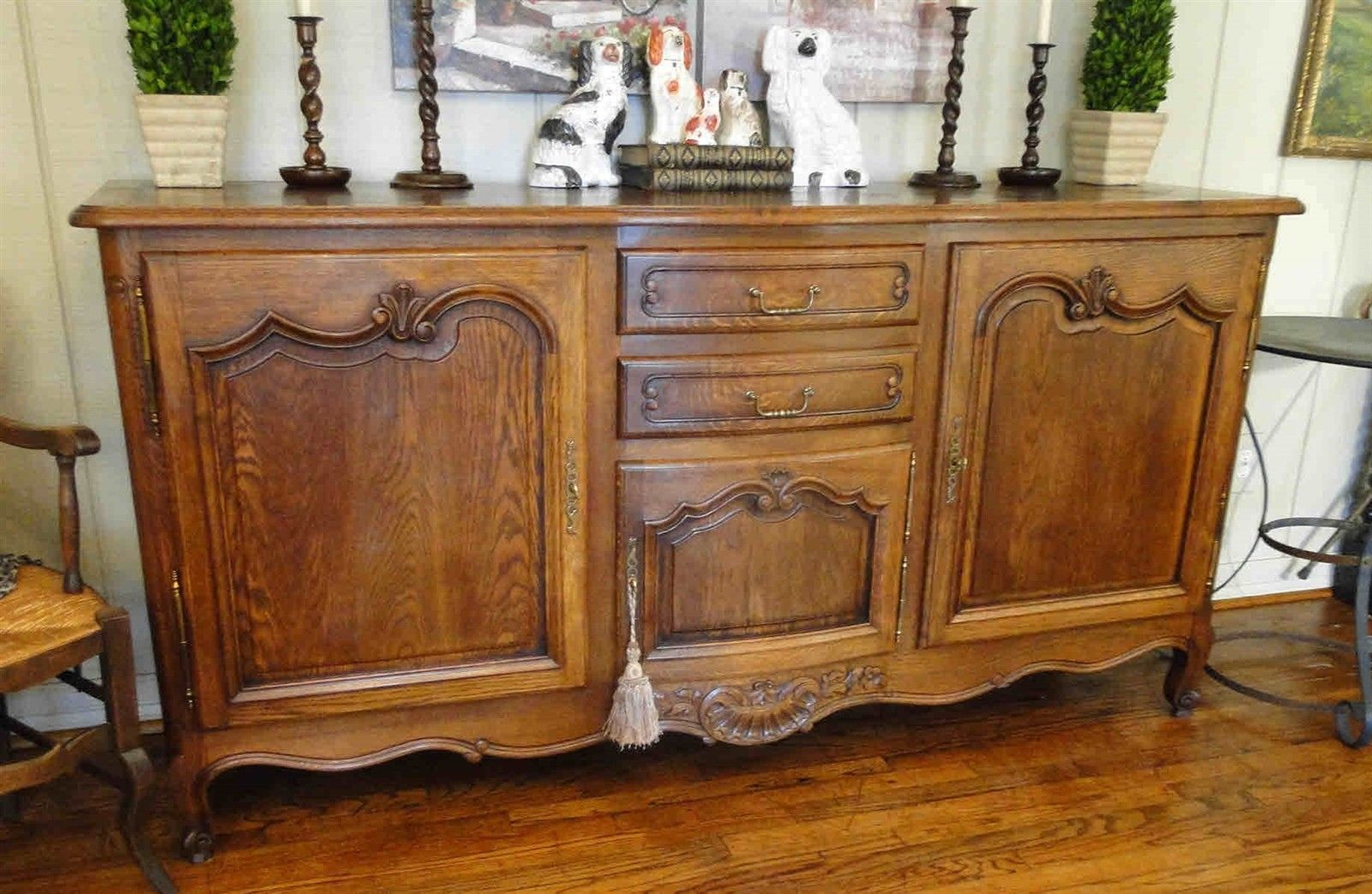 Antique French Country French Buffet Sideboard Server Provence - Carving