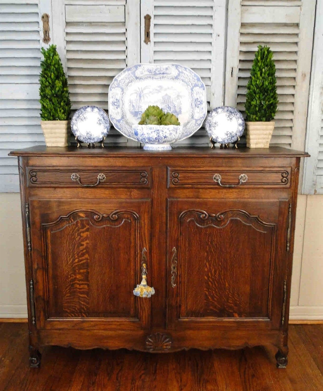 Antique French Country Buffet Sideboard Server Elegant South of France