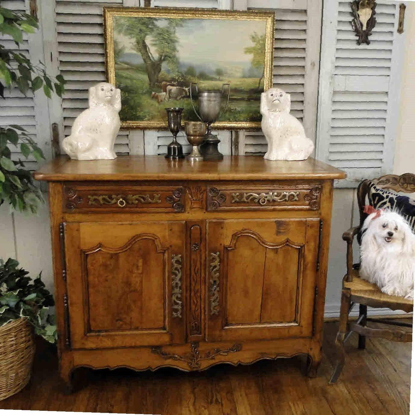 Antique French Country Buffet Sideboard Server Beautifully carved Provence Old