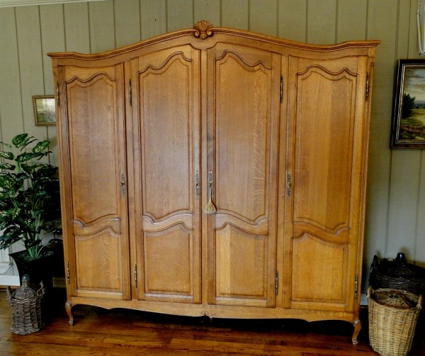 Large Antique French Country Armoire